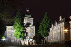 宫殿在晚上 免版税库存图片