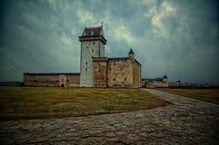 宫殿在纳尔瓦,爱沙尼亚 免版税库存照片