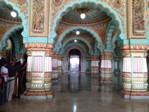 宫殿在迈索尔卡纳塔克邦印度 库存图片