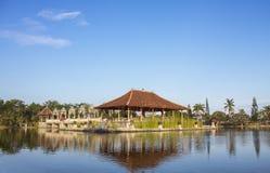 水宫殿在巴厘岛 免版税库存照片