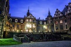 宫殿在Moszna,波兰 免版税库存照片