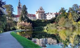 宫殿在Pruhonice 免版税库存图片