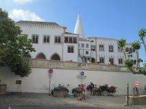 宫殿在Sintr,葡萄牙 库存照片