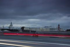 宫殿堤防,圣彼德堡,俄罗斯 库存图片
