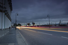 宫殿堤防,圣彼德堡,俄罗斯 免版税图库摄影