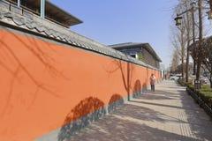 宫殿墙壁在达扬塔风景区 库存图片