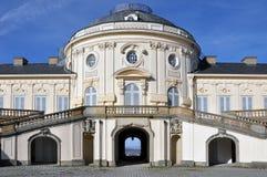 宫殿孑然在斯图加特 库存照片