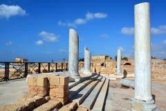 宫殿废墟在凯瑟里雅Maritim 免版税库存图片