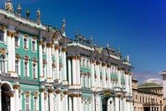 宫殿彼得斯堡俄国冬天 免版税图库摄影