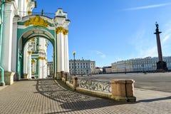 宫殿彼得斯堡俄国st冬天 库存图片