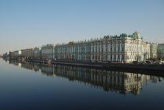 宫殿彼得斯堡圣徒冬天 免版税图库摄影