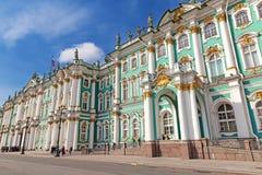 宫殿彼得斯堡圣徒冬天 图库摄影