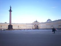 宫殿彼得斯堡方形st 免版税库存照片