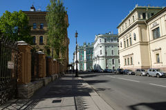 宫殿彼得斯堡方形st 免版税库存图片