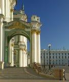 宫殿彼得斯堡st冬天 免版税库存图片