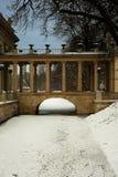 宫殿桥梁水的在冬天 库存照片