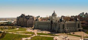 宫殿正方形在喀山 库存图片