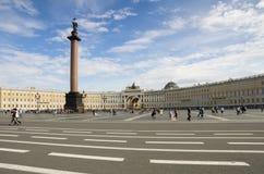 宫殿正方形在圣彼德堡 库存图片