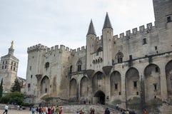 宫殿正方形在阿维尼翁 库存图片