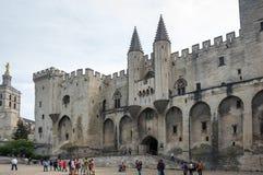 宫殿正方形在阿维尼翁 免版税图库摄影
