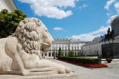 宫殿波兰总统 免版税库存图片