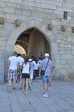 宫殿的入口曲拱 库存图片