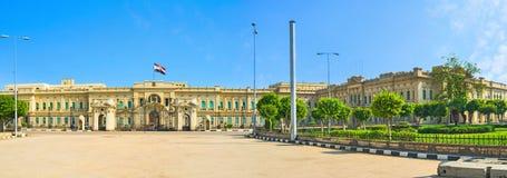 宫殿的全景 免版税库存图片