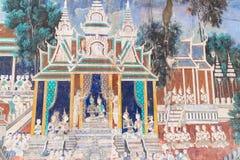 宫殿皇家penh的phnom 免版税库存图片
