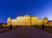 宫殿眺望楼在维也纳奥地利 库存图片