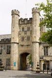 宫殿门户在维尔斯,萨默塞特,英国 库存照片