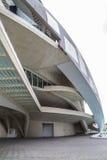 宫殿音乐,现代博物馆建筑学在西班牙城市  免版税库存照片
