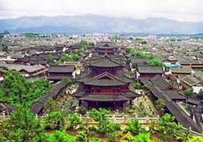 宫殿鸟瞰图lijiang的,瓷 免版税库存照片