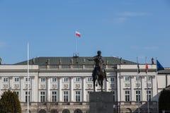 宫殿总统华沙 免版税库存图片