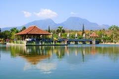 水宫殿 巴厘岛印度尼西亚 图库摄影