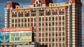 宫殿驻地旅馆和赌博娱乐场在拉斯维加斯,内华达 免版税图库摄影