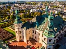 宫殿Biskopow Krakowskich国家博物馆凯尔采波兰 库存照片