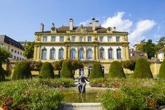 宫殿du佩鲁在纳沙泰尔 库存照片