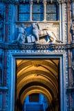 宫殿Ducale,圣马可广场,威尼斯,意大利运河  免版税库存图片