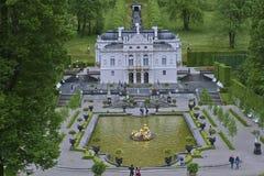 宫殿Linderhof 免版税库存照片