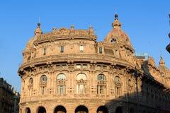 宫殿Palazzo della Nuova在Piazza de法拉利,热那亚的Borsa Valori 图库摄影