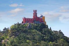 宫殿pena葡萄牙sintra 库存照片