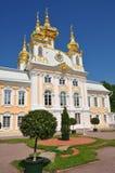 宫殿peterhof观光彼得斯堡的sankt 免版税库存图片