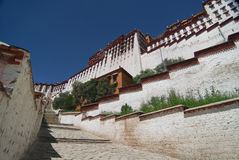 宫殿potala西藏 库存照片