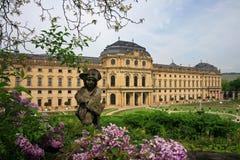 宫殿residenze维尔茨堡 库存图片