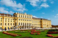 宫殿schonbrunn维也纳 巴洛克式的宫殿是位于Vien的前皇家夏天住所 图库摄影