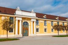 宫殿schonbrunn维也纳 巴洛克式的宫殿是位于Vien的前皇家夏天住所 免版税库存图片