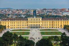 宫殿schonbrunn维也纳 图库摄影
