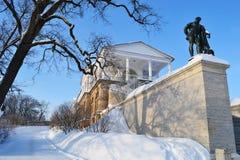 宫殿selo tsarskoe冬天 免版税库存照片
