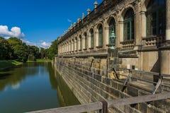 宫殿Zwinger (Dresdner Zwinger) 图库摄影