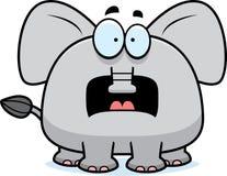 害怕的动画片大象 免版税库存照片